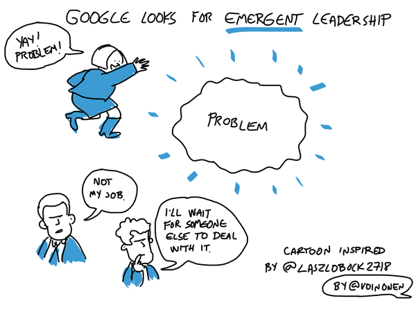 Google looks for emergent leadership when recruiting