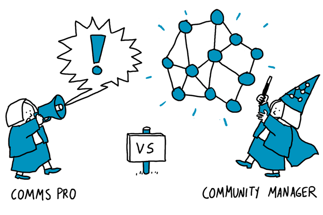 One way communication vs community management