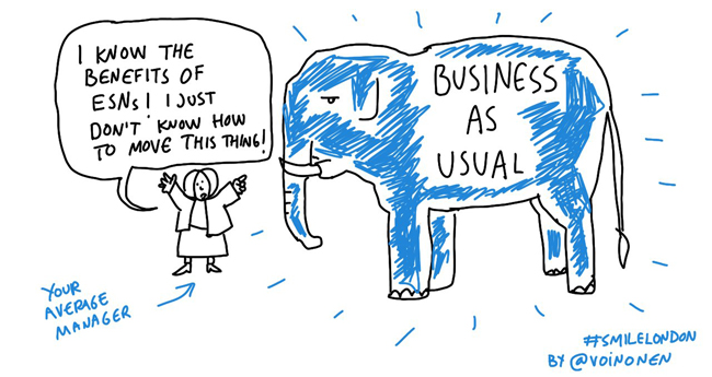 business as usual change is hard cartoon