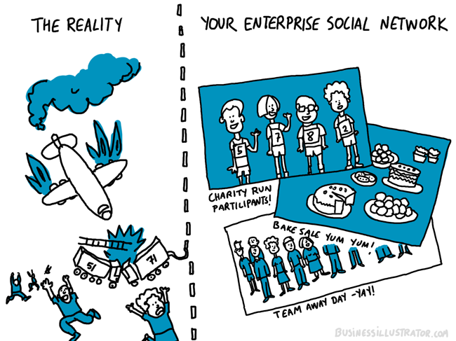 reality vs social network newsfeed